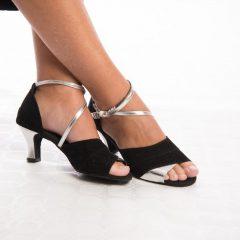 Zapatos Salsa Negro-Plata